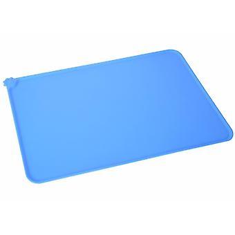 L 54 * 38cm الحيوانات الأليفة الزرقاء سيليكون placemats، للماء، وعدم زلة وتسرب واقية من placemats للقطط وال كلاب، الحصير الحيوانات الأليفة السيارة az19854