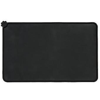 S 47 * 30cm الأسود سيليكون الحيوانات الأليفة placemats، للماء، وعدم زلة وتسرب واقية من placemats للقطط وال كلاب، الحصير الحيوانات الأليفة سيارة az19869