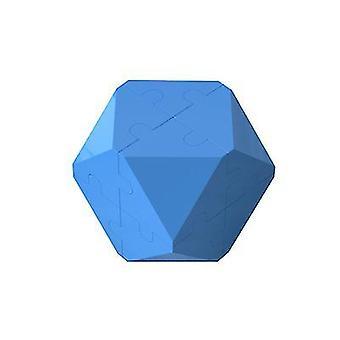 Tmavě modrá 3D inteligence rubik kostka puzzle stavební bloky x7527
