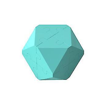 Vaaleansininen 3D-älykkyys rubikin kuutio palapelin rakennuspalikat x7528