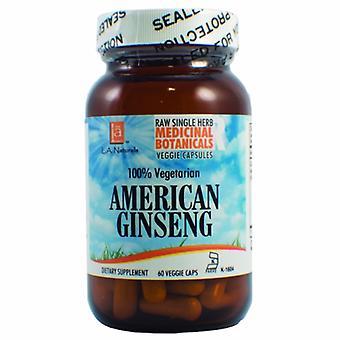 L. A .Naturals American Ginseng Raw Herb, 60 Veg Caps