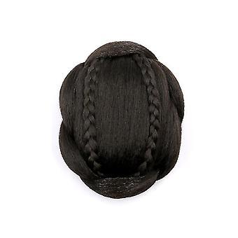 Hair Wig Braided Synthetic Hair Bun Chignon Hairpiece