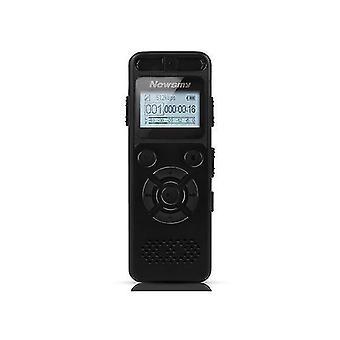 Newsmy RV29 8GB 1536KBPS PCM Dubbel mikrofon 138 timmar A till B Upprepa röstinspelare