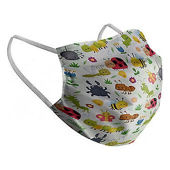 Hygienic Reusable Fabric Mask Children's Insects