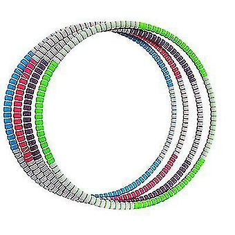 Hula Hoop For Adults, Weighted Hula Hoop for Weight Loss Fitness Exercise(Red Gray)