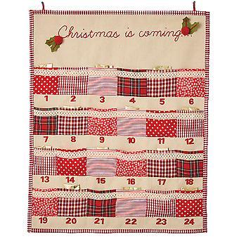 Patchwork Hanging Calendrier de l'Avent Kit d'artisanat de couture pour adultes