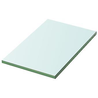 vidaXL الجرف زجاج شفاف 20 × 12 سم