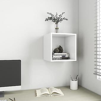vidaXL Seinäkaappi Valkoinen 37x37x37 cm Lastulevy