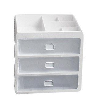 Bureau lade organisator multi-layer cosmetische opbergdoos make-up geval borstel houder sieraden container