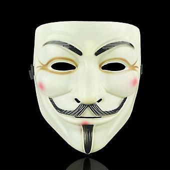 (Sárga és Szemceruza) Anonymous Hacker V Vendetta Guy Fawkes Fancy Face Mask Cosplay kellékek