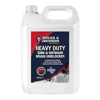 Sink and Drain Unblocker Gel 5L Spear and Jackson Professional Powerful Formula