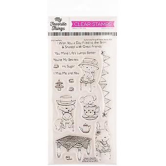 """Meine Lieblingsdinge Stacey Yacula Briefmarken 4""""X8"""" - Tea Party"""