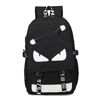 Yunyun 18 Inch Usb Rechargeable Backpack Student Bag Luminous Pattern Backpack