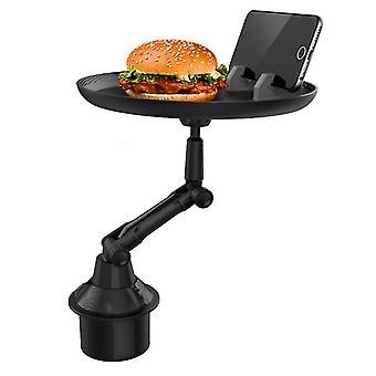 Long car tray food drink cup coffee table stand mount holder dinner plate zf1165
