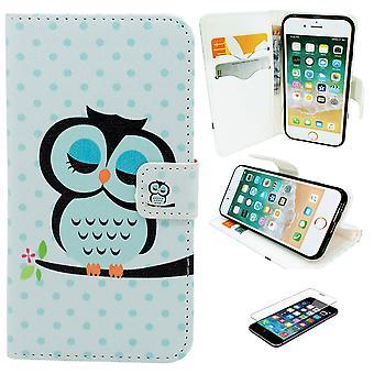 IPhone 6/6s taske/læder tegnebog-ugle