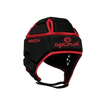 Optimum Sports Origin Maksymalna ochrona czaszki Junior Rugby Headguard LB - Czerwony