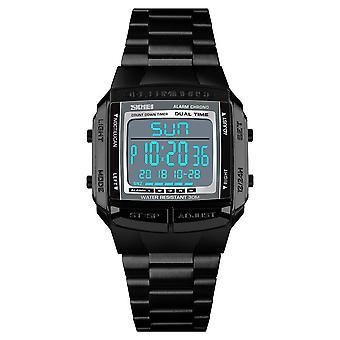 1381Men Analog Digital Watch Sports Armbåndsur (Sort)