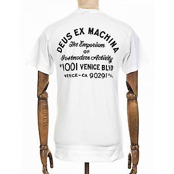 Deus Ex Machina Venice Address Pocket Tee - White