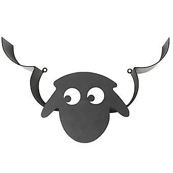 Sheep Head Montowany na ścianie Czarny uchwyt na papier toaletowy Uchwyt na bibułkę Uchwyt na rolkę z telefonem