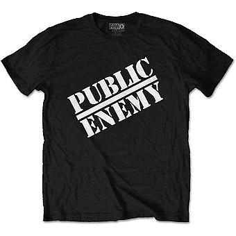Inimigo público unissex tee: logotipo