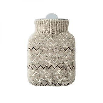 300ml Silica Gel Hot Water Bottle With Knitted Cover Warmer Christmas Gift
