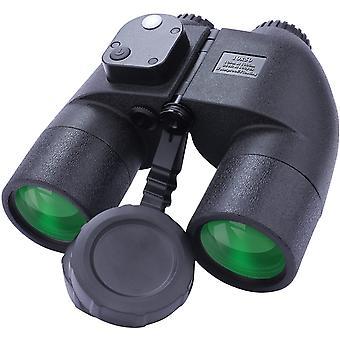 10x50 Professional HD Binoculars with Rangefinder Compass - 99.5% Light Transmittance - Nitrogen Filled - Waterproof - Fogproof,(black)