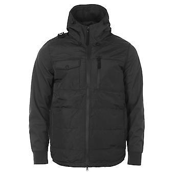 MA.Strum Softshell Down Quilt Hooded Jacket - Black