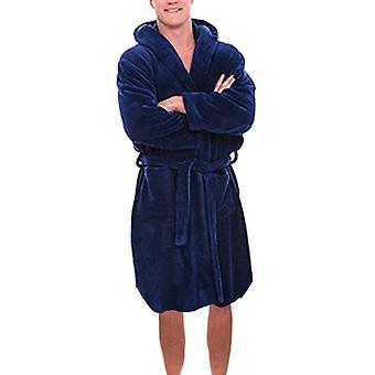 Winter Warm Dick Bademantel, lose, weiche lange Nachtwäsche