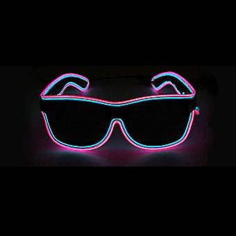 Led Dual Color Valoisat Lasit Neon Party El Wire Lasit sytytä silmälasit Cosplay Rave Festivals Halloween Bars Clubs Party