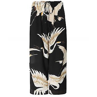 One Hundred Stars Stork Crepe Trousers