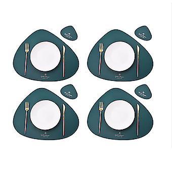 8 helytörlő készlet, asztali szőnyegek, hőálló, csúszásmentes, mosható és hőszigetelő kávészőnyegek, konyhai helytörlők, északi stílusú placemats