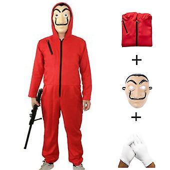 Detský štýl Bill House Cosplay Kostýmy + Maska + Rukavice Halloween Role-playing Kostýmy