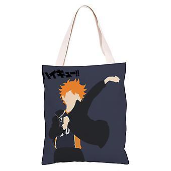 الكرتون أنيمي قماش حقيبة التسوق Totes، هايكيو #25