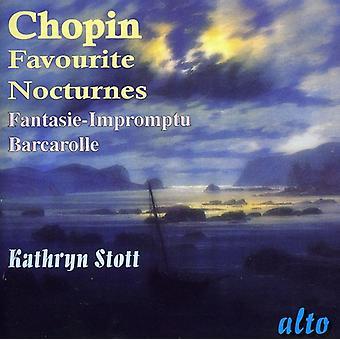 F el. Chopin - Chopin: Nocturnos favoritos; Fantasie-Impromptu; Importación de USA de Barcarola [CD]
