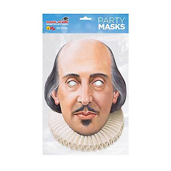 William Shakespeare Single 2D Card Party Fancy Dress Mask