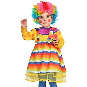 Costume de fille de bébé costumes filles bébé clown
