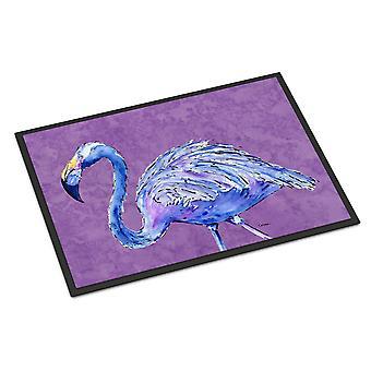 Carolines Treasures  8874MAT Flamingo on Purple Indoor or Outdoor Mat 18x27 Door
