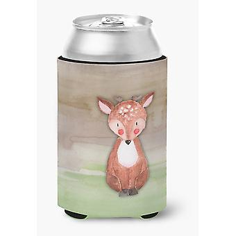 Carolines Treasures  BB7442CC Baby Deer Watercolor Can or Bottle Hugger
