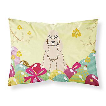Easter Eggs Cocker Spaniel Buff Fabric Standard Pillowcase
