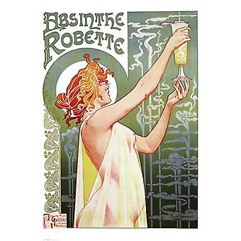 Absinthe Robette juliste Juliste Tulosta Privat Livemont