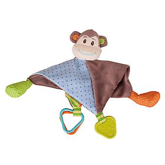 Bigjigs Toys Soft Plush Newborn Cheeky Monkey Comforter Security Blanket Sleep