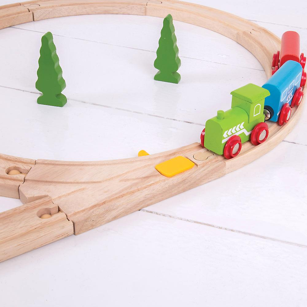 Bigjigs Rail Wooden Mechanical Switches (Pack of 2) Train Track Expansion