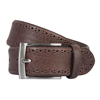 OTTO KERN belts men's belts leather belt dark brown 2183