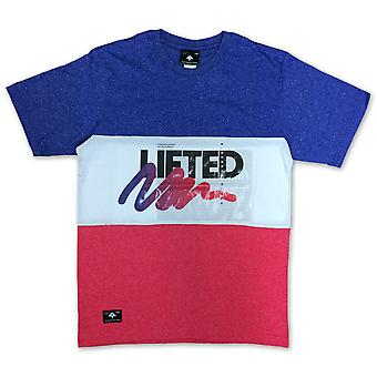 LRG Wavy Knit T-shirt True Blue Heather