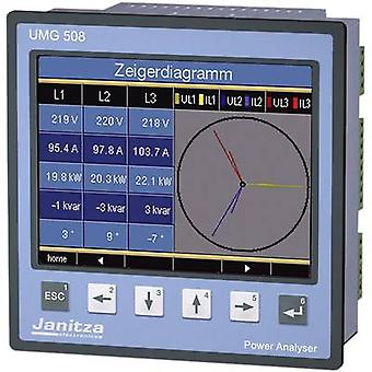 Janitza UMG 508 Network diagnostics 3-phase, 1-phase Data logger
