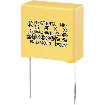 TRU COMPONENTS MKP-X2 1 st MKP-X2 suppression kondensator Radialledning 2,2 μF 275 V AC 10 % 27,5 mm (L x B x H) 32 x 18 x 30 mm