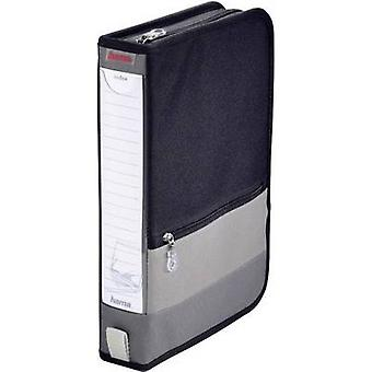 Hama CD bag 64 CDs/DVDs/Blu-rays Polyester Grey, Black 1 pc(s) (W x H x D) 63 x 295 x 200 mm 84146