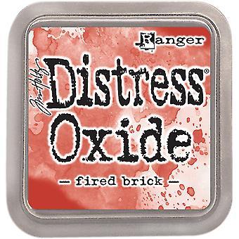 Oxiden van Tim Holtz Distress Ink Pad gestookte baksteen