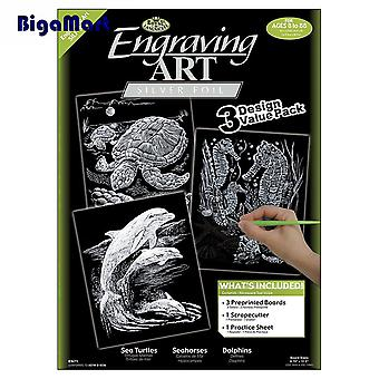 Folie gravure Art Kit waarde pak 8.75