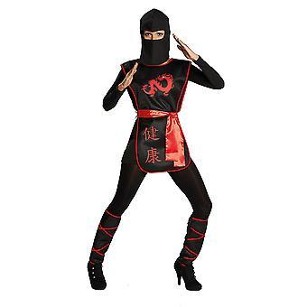 Ninja Kriegerin Japan Kriegerinkostüm Kämperin Anzug Kostüm für Damen
